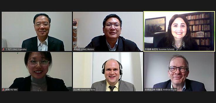 Screenshot der Experten auf dem virtuellen Symposium, 08.12.2020