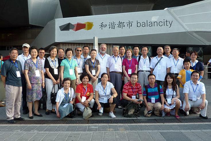Besuch des deutschen Pavillons auf der Expo Shanghai 2010