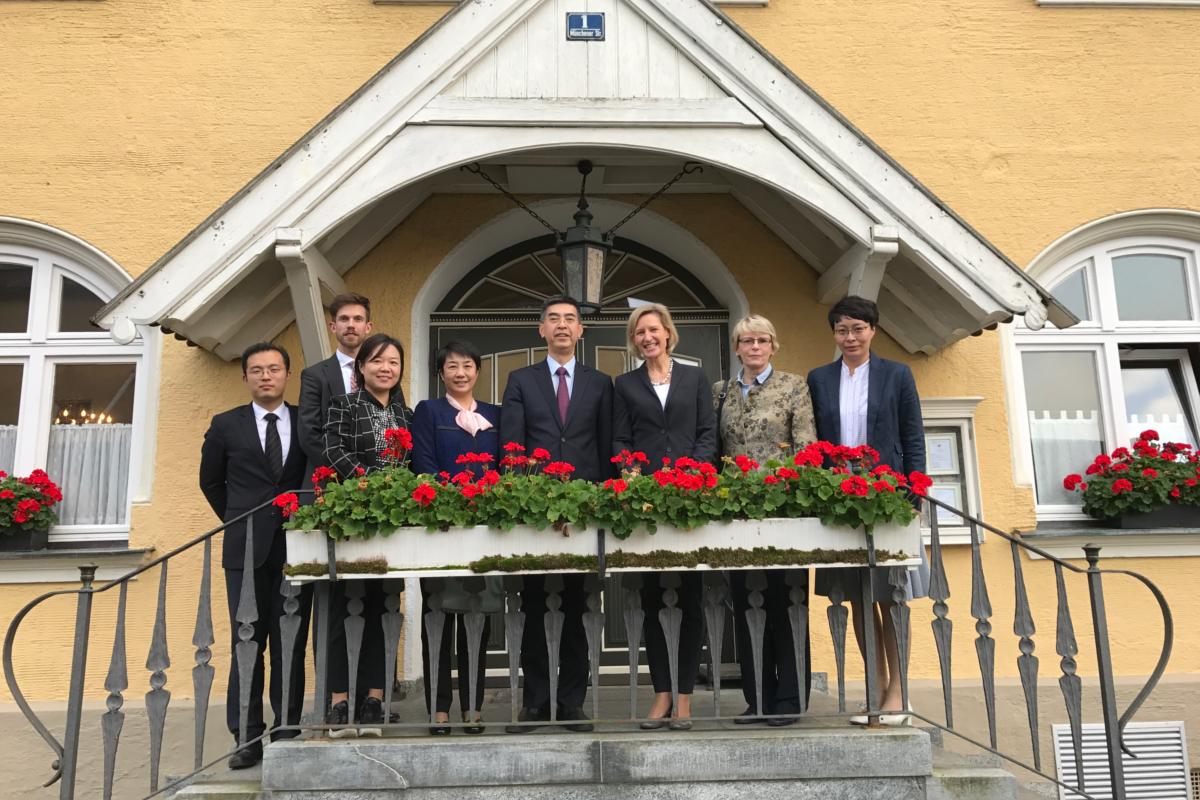Die Delegation mit Angelika Niebler, stv. CSU-Vorsitzende (3.v.r.)