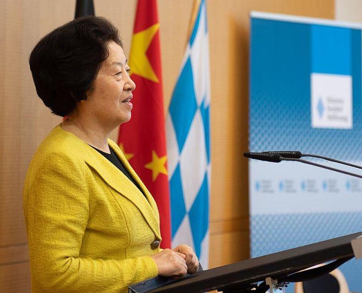Sun Chunlan, Vizepremierministerin der VR China, lobt das große Spektrum der Kooperation der HSS in China mit Schwerpunkt Berufsbildung