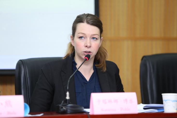 Katarina Pohle vermittelte Einblicke in die Praxis der deutschen Diversionshilfe