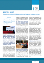 Briefing Sheet: Conclusions from HSS thematic conference and workshop